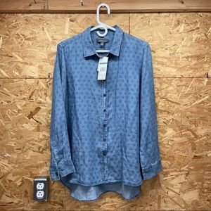 SALE Alexander Jordan NEW blue denim button up